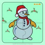 Snowman   Jigzaw Puzzles For Kids | Winter And Snowpeople | Puzzles   Printable Snowman Puzzle