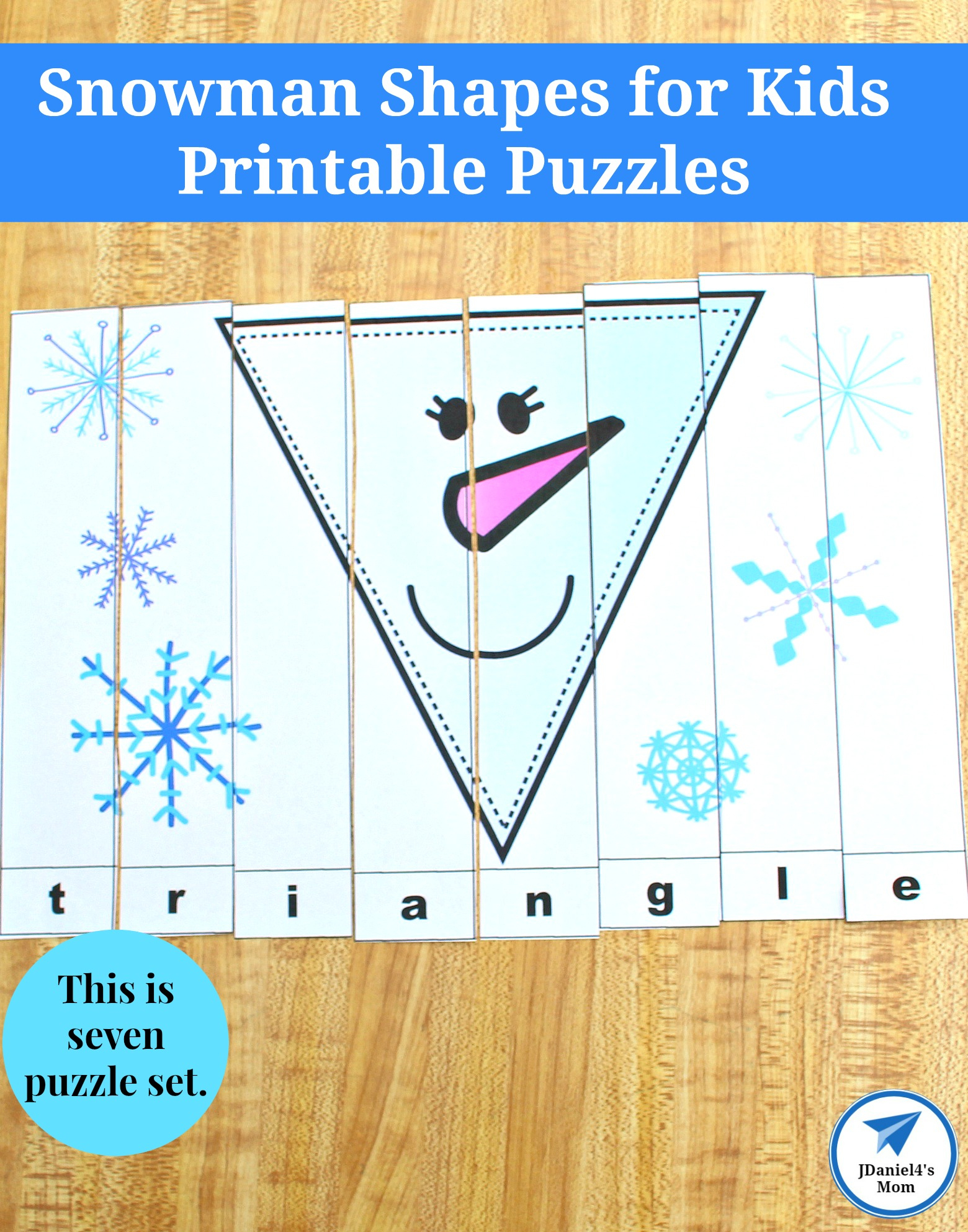Snowman Shapes For Kids Printable Puzzles - Jdaniel4S Mom - Printable Floor Puzzle
