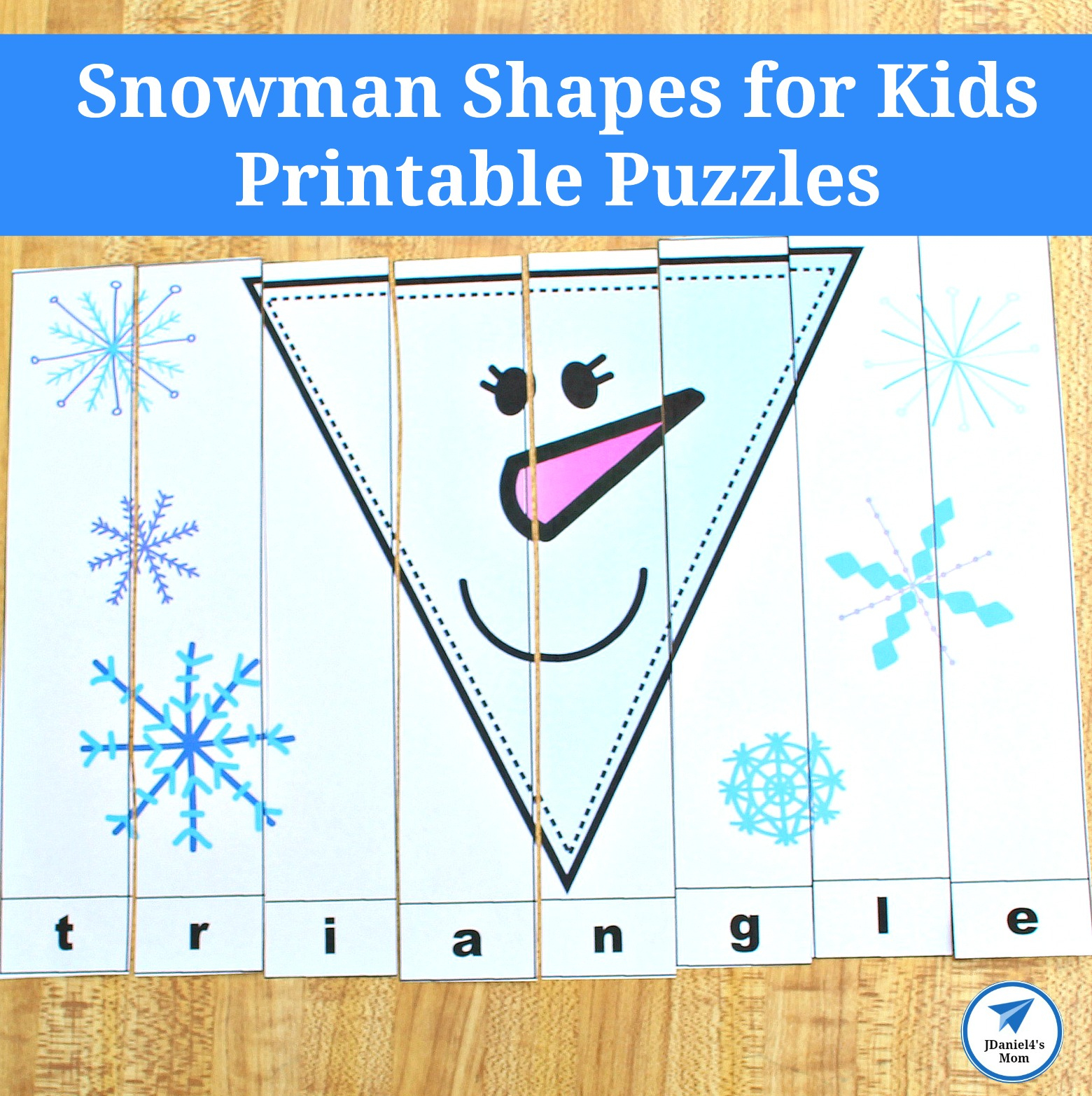 Snowman Shapes For Kids Printable Puzzles - Jdaniel4S Mom - Printable Snowman Puzzle