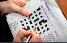 Solving A Quick Newspaper Crossword, London Stock Photo: 32946995   Guardian Quick Crossword Printable Version