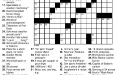 Solving Puzzles Is The Perfect Pastime When You Are Travelling. They   Printable Crossword Puzzles Travel