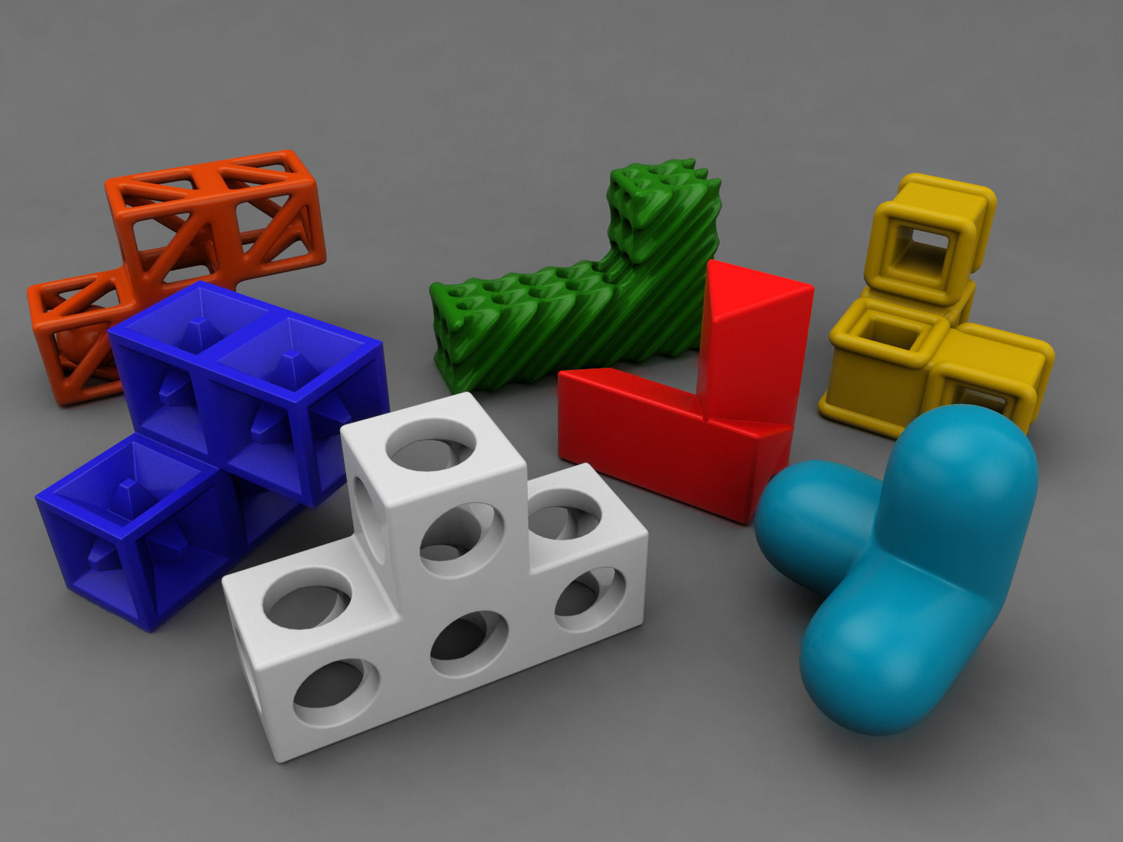 Soma Cube Puzzle Game 3D Printable Model | Cgtrader - 3D Printable Puzzles Cube