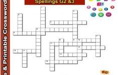Spelling Grade 2&3 Interactive & Printable Crossword Puzzle   Grade 2 Crossword Puzzles Printable