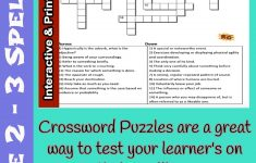 Spelling Grade 2&3 Interactive & Printable Crossword Puzzle   Printable Binary Puzzle