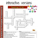 Spelling Interactive & Printable Crossword Puzzle Grade 2&3 | Grade   Printable Crossword Puzzles Grade 3