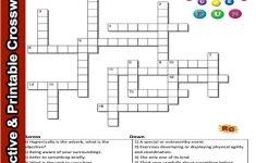 Spelling Interactive & Printable Crossword Puzzle Grade 2&3   Printable Crossword Puzzle For Grade 5
