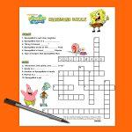 Spongebob Crossword Puzzle   Nickelodeon Parents   Birthday Crossword Puzzle Printable