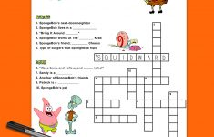 Spongebob Crossword Puzzle | Nickelodeon Parents   Printable Birthday Puzzles