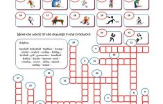 Sport Crossword Worksheet   Free Esl Printable Worksheets Made   Printable Hockey Crossword Puzzles