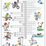 Sports Crossword Puzzle Worksheet   Free Esl Printable Worksheets   Esl Crossword Puzzles Printable