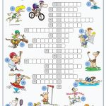 Sports Crossword Puzzle Worksheet   Free Esl Printable Worksheets   Printable English Crossword Puzzles With Answers