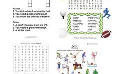 Sports Wordsearch And Crosswords Worksheet   Free Esl Printable   Printable Crosswords Rugby