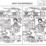 Spot The Difference Worksheets For Kids | English Language | Spot   Printable Spot The Difference Puzzle