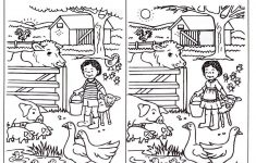 Spot The Difference Worksheets For Kids   English Language   Spot   Printable Spot The Difference Puzzle