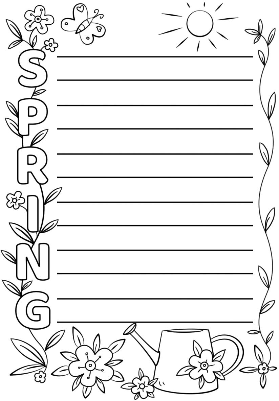 Spring Acrostic Poem Template | Free Printable Papercraft Templates - Printable Acrostic Puzzle