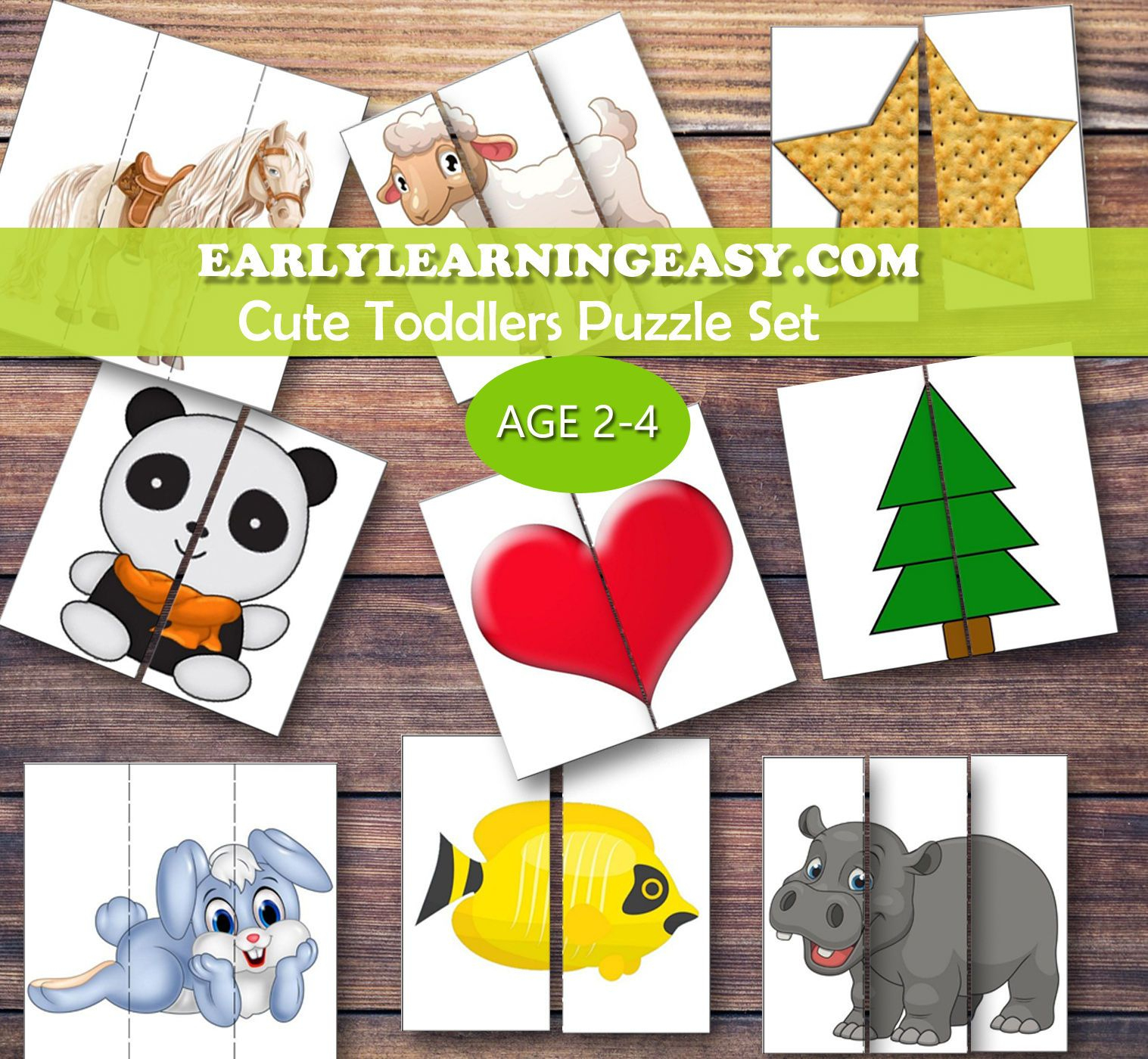 Spring Easter | Mdo 2 | Puzzles For Toddlers, Kids Education - 2 Piece Puzzle Printable