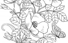 Spring Flowers Coloring Page   Free Printable Coloring Pages   Printable Flower Puzzle