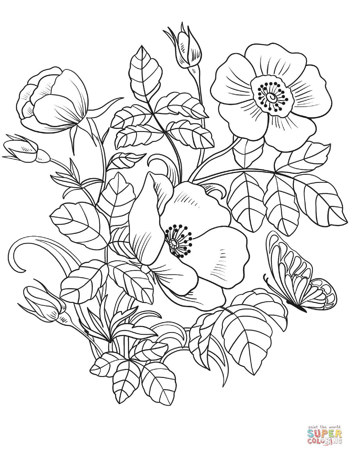 Spring Flowers Coloring Page | Free Printable Coloring Pages - Printable Flower Puzzle