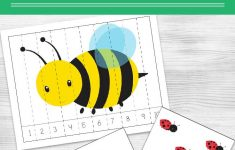 Spring Themed Bug Counting Cards And Puzzles For Teaching Kids   Printable Bug Puzzles