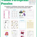 Spring Visual Perceptual Puzzles   Your Therapy Source   Free Printable Visual Puzzles