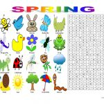 Spring Vocabulary (Wordsearch Puzzle) Worksheet   Free Esl Printable   Printable Spring Puzzles