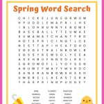 Spring Word Search Free Printable Worksheet For Kids   Printable Spring Puzzles