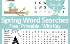 Spring Word Search   Printable Spring Puzzle