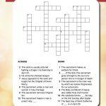 St George & Sacraments Crossword   | Printable Activities For Kids   Printable Holy Week Crossword Puzzle