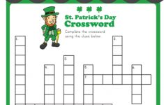 St. Patrick's Crossword | Puzzles And Mazes | Crossword, Puzzles For   Free Printable Crossword Puzzles Holidays