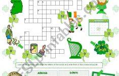 St. Patrick´s Day Crossword   Esl Worksheetanna P   St Patrick's Day Crossword Puzzle Printable