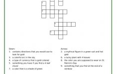 St. Patrick's Day Crossword Puzzle   Adore Them   Printable Crossword Of The Day