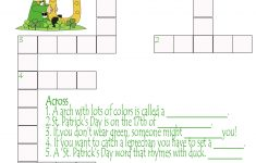 St. Patrick's Day Crossword Puzzle Printable | Making Of A Mom   St Patrick's Day Crossword Puzzle Printable
