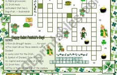 St. Patrick´s Day Crossword   With Answers   Esl Worksheetmaguyre   St Patrick's Day Crossword Puzzle Printable