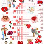 St Valentine's Day   Crossword Worksheet   Free Esl Printable   Free Printable Valentines Crossword