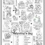 St Valentine´s Day (Puzzle)   Esl Worksheetsilvanija   Valentine's Day Printable Puzzle