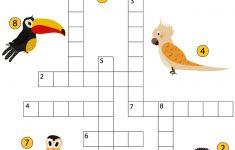 Study Birds Crossword Puzzle | Free Printable Puzzle Games   Printable Bird Puzzles