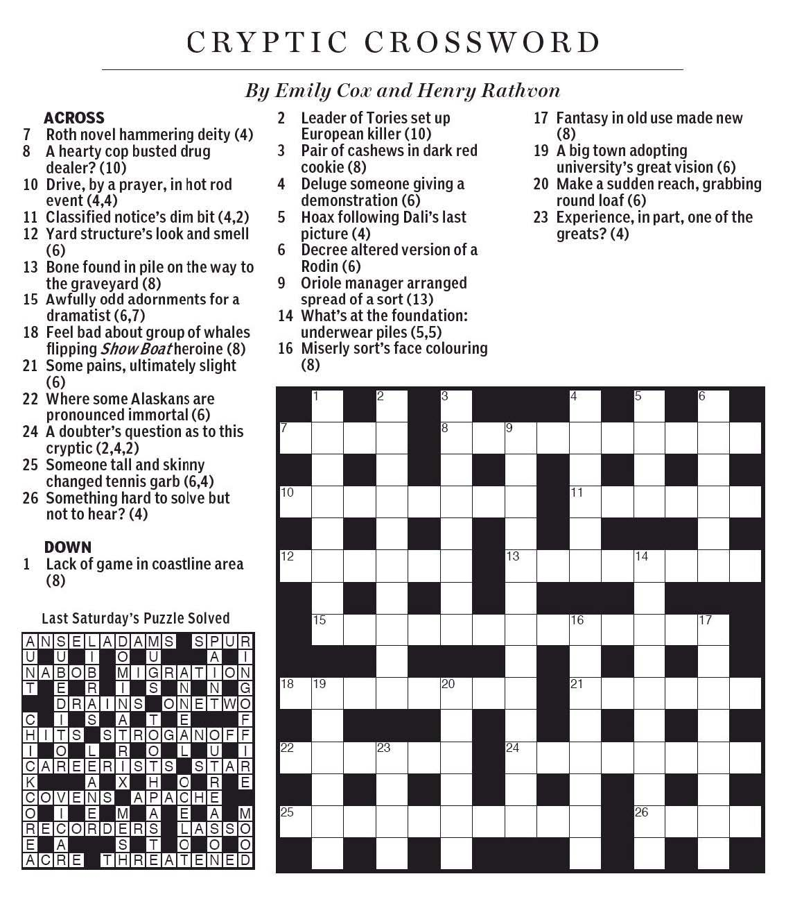 Style Of Dance Crossword Clue - Printable Crossword Puzzles Eugene Sheffer