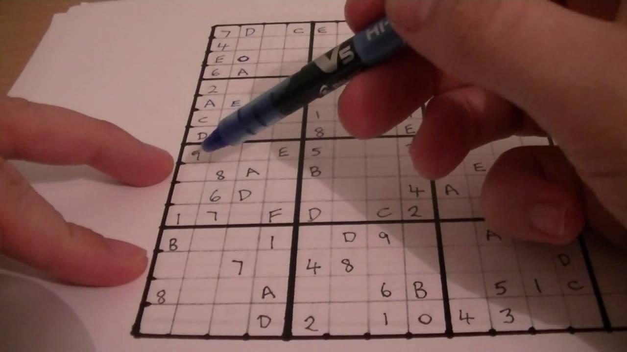 Sudoku 16 X 16 Printable - Printable Hexadoku Puzzles