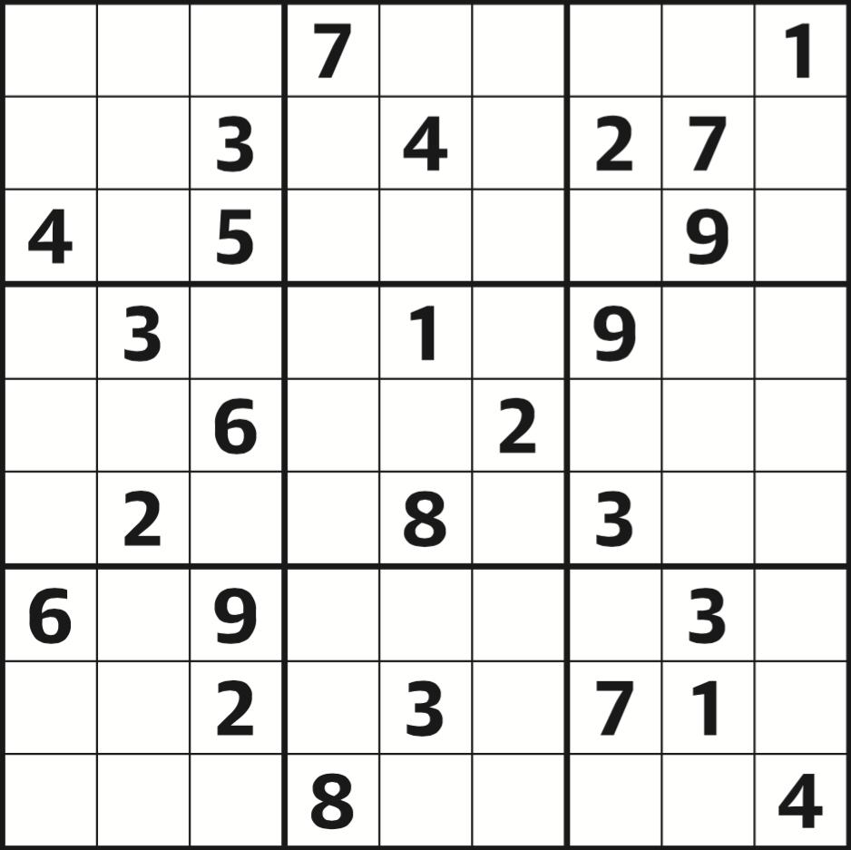 Sudoku 3961 Hard | Life And Style | The Guardian - Printable Crossword Guardian