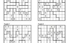 Sudoku Free Printable Puzzles 4 Per Page   Kids Activities   Free   Printable Sudoku Puzzles 4 Per Page