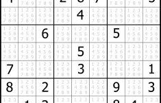 Sudoku Printable | Free, Medium, Printable Sudoku Puzzle #1 | My   Printable Sudoku Puzzle Medium