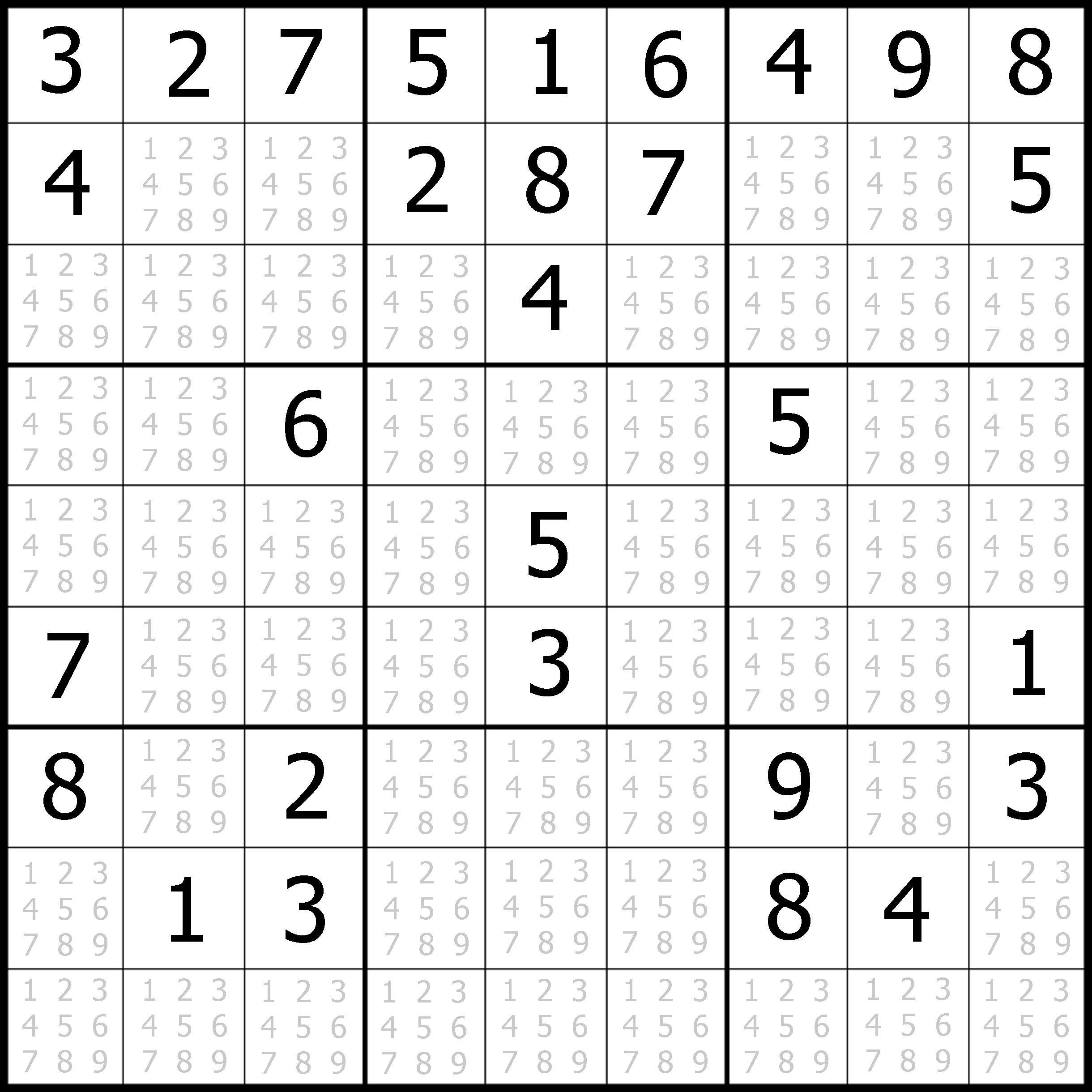 Sudoku Printable   Free, Medium, Printable Sudoku Puzzle #1   My - Printable Sudoku Puzzles Krazydad