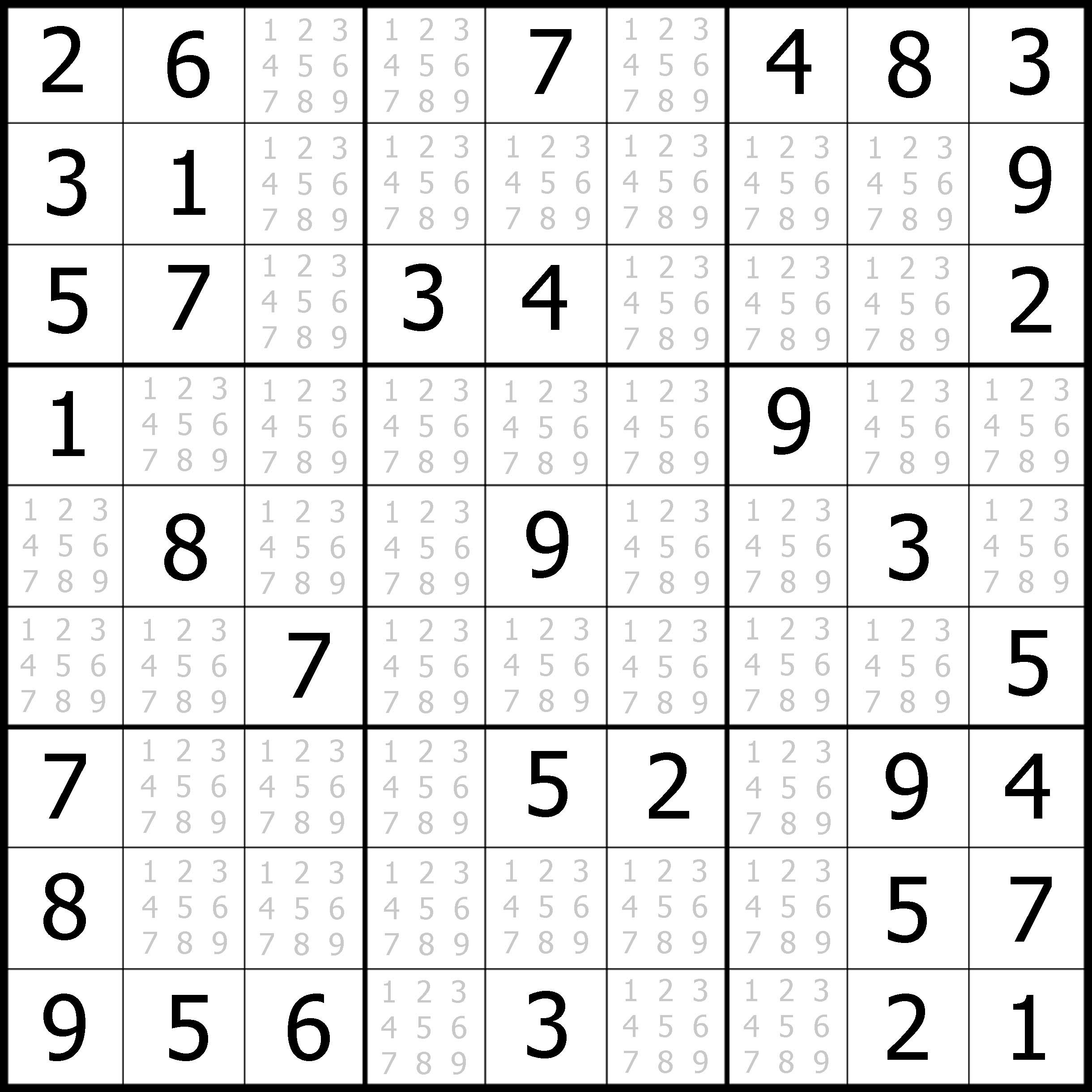 Sudoku Puzzler | Free, Printable, Updated Sudoku Puzzles With A - Printable Puzzle Sudoku