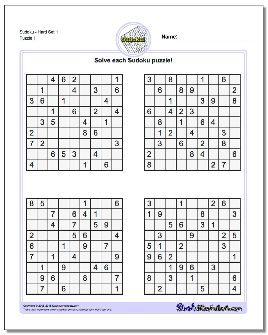 Sudoku Puzzles Printable | Ellipsis - Printable Crossword Sudoku Puzzles