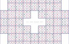 Sudoku Puzzles With Solutions Pdf | Super Sudoku Printable Download   Printable Puzzles With Solutions