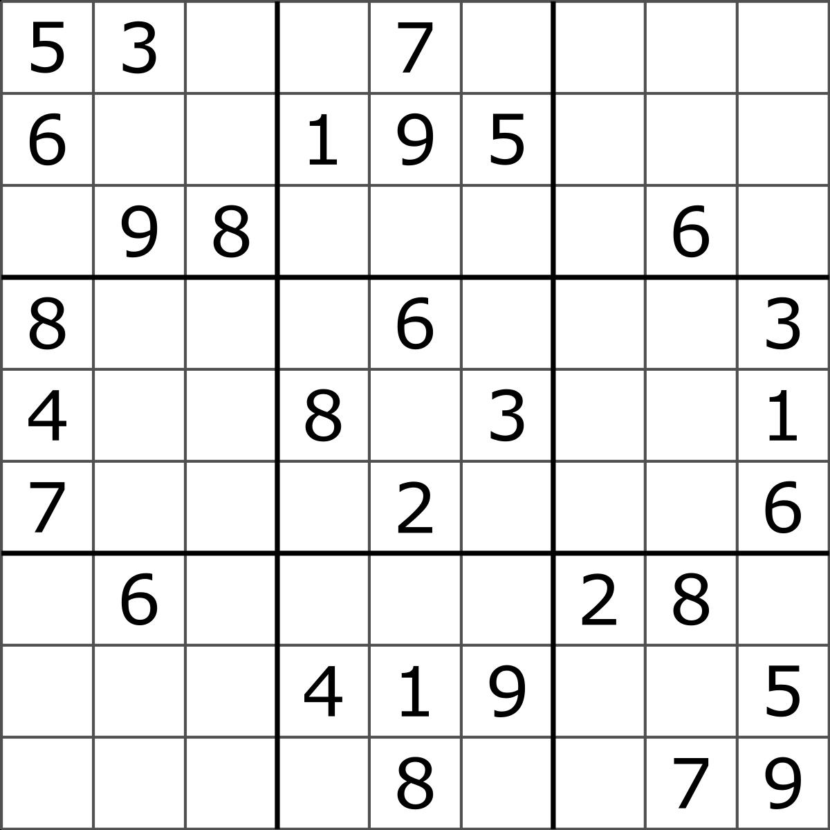 Sudoku Solving Algorithms - Wikipedia - Printable Sudoku Puzzles 9X9