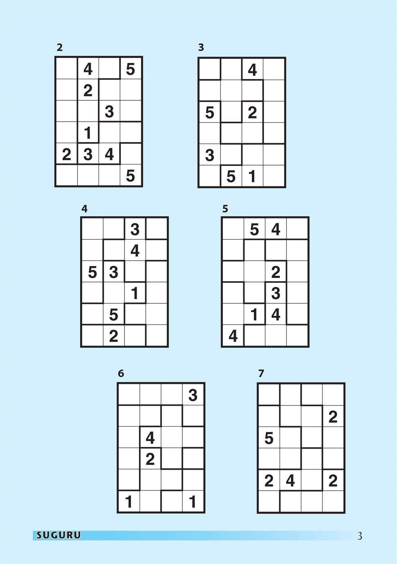 Suguru Magazine Subscription | Magshop - Printable Suguru Puzzles