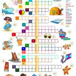 Summer Holidays – Crossword Worksheet – Free Esl Printable – Printable Crossword Puzzles Summer Holidays