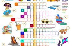 Summer Holidays   Crossword Worksheet   Free Esl Printable   Printable Holiday Crossword
