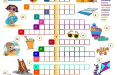 Summer Holidays   Crossword Worksheet   Free Esl Printable   Summer Crossword Puzzle Printable